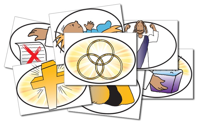 Kids' EE Gospel-In-A-Nutshell Teaching Cards (set of 6 cards)