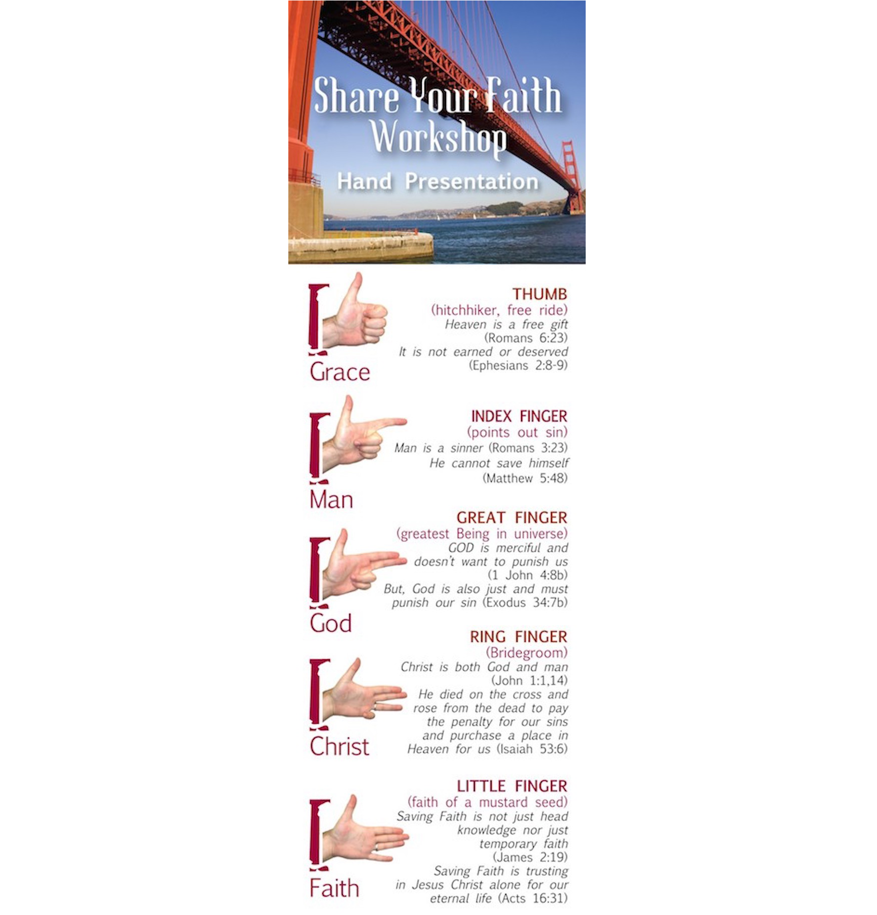 Share Your Faith Presentation Bookmarks (pack of 25)